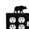 Wrought Iron Bear Double Outlet with Single Switch Combination Cover