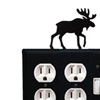 Wrought Iron Moose Double Outlet with Single Switch Combination Cover