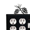 Wrought Iron Pinecone Double Outlet with Single Switch Combination Cover