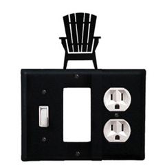Wrought Iron Adirondack Combination Cover - Switch, GFI and Outlet