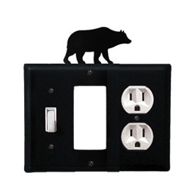 Wrought Iron Bear Combination Cover - Switch, GFI and Outlet
