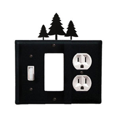 Wrought Iron Pine Trees Combination Cover - Switch, GFI and Outlet