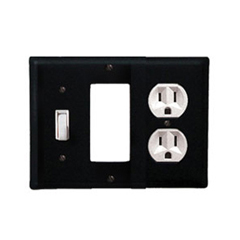 Wrought Iron Plain Combination Cover - Switch, GFI and Outlet