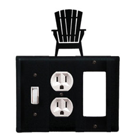 Wrought Iron Adirondack Combination Cover - Switch, Outlet and GFI