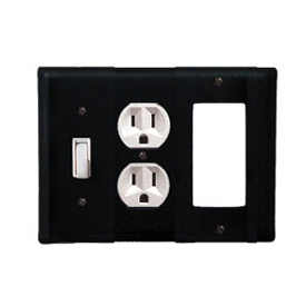 Wrought Iron Plain Combination Cover - Switch, Outlet and GFI