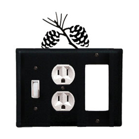Wrought Iron Pinecone Combination Cover - Switch, Outlet and GFI