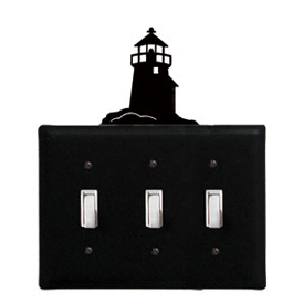 Wrought Iron Lighthouse - Switch Cover Triple