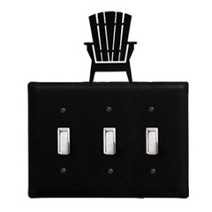 Wrought Iron Adirondack - Switch Cover Triple