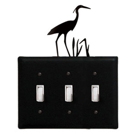 Wrought Iron Heron - Switch Cover Triple