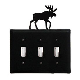 Wrought Iron Moose - Switch Cover Triple