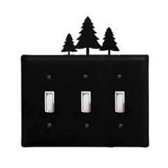 Wrought Iron Pine Trees - Switch Cover Triple