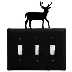Wrought Iron Deer - Switch Cover Triple