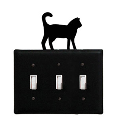 Wrought Iron Cat - Switch Cover Triple