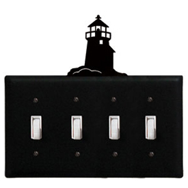 Wrought Iron Lighthouse - Switch Cover QUAD