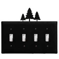 Wrought Iron Pine Trees - Switch Cover QUAD