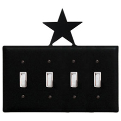 Wrought Iron Star - Switch Cover QUAD