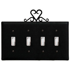 Wrought Iron Heart - Switch Cover QUAD