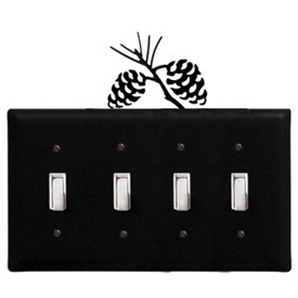 Wrought Iron Pinecone - Switch Cover QUAD