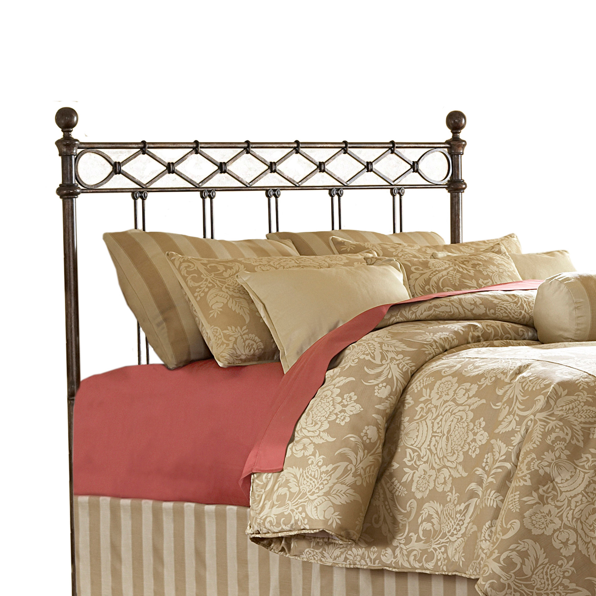 leaf and p in copper beds pattern metal bed hammered size arched group king sycamore design headboard headboards fashion with california panel