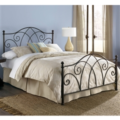 Deland Iron Headboard Brown Sparkle Finish Traditional Design