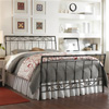 Ellington Iron Bed Heritage Silver Finish Scroll Work Design