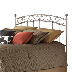 Ellsworth Iron Headboard Scroll Work Design New Brown Finish