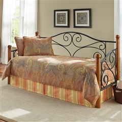 Ennis Wood and Iron Daybed