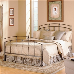 Fenton Iron Bed Traditional Sleek Design Black Walnut Finish