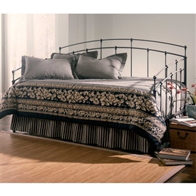Pictured here is the Fenton Iron Daybed with a Traditional Design style and Black Walnut Finish
