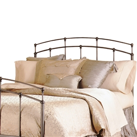 Fenton Iron Headboard Traditional Design Black Walnut Finish