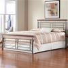Fontane Iron Headboard Silver/Cherry Metal Contemporary