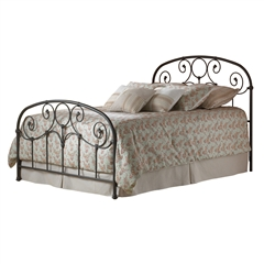 Grafton Iron bed Country Style Scroll Work Rusty Gold Finish