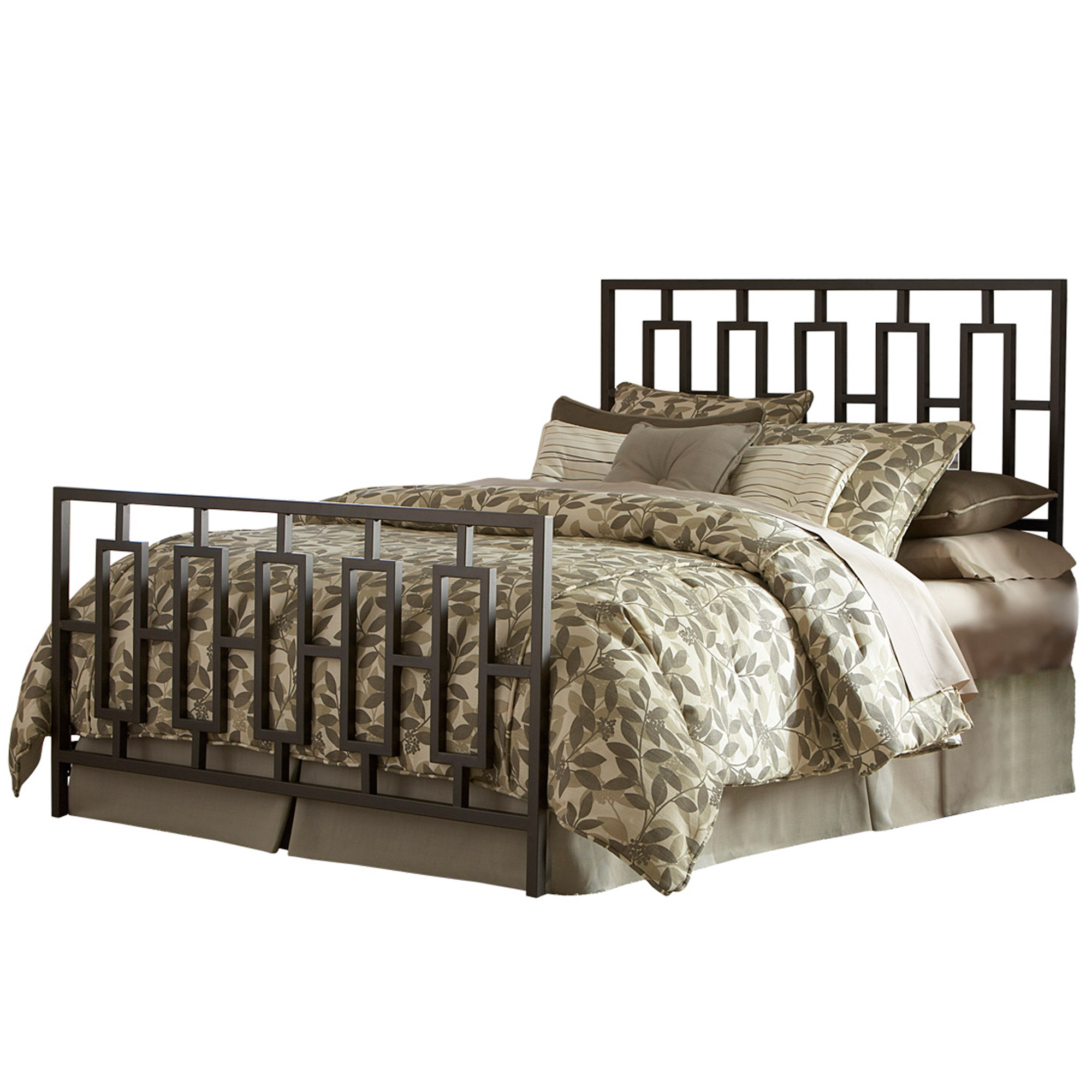 wrought iron beds  style strength  comfort - miami iron bed sleek contemporary design coffee finish