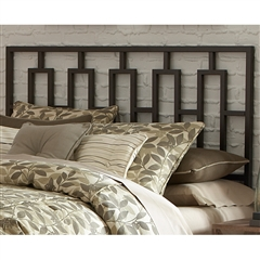 Miami Iron Headboard Sleek Contemporary Design Coffee Finish