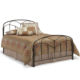 Pomona Iron Bed Hazelnut Finish Traditional Curving Design