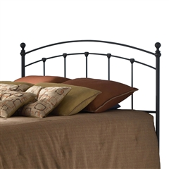 Sanford Iron Headboard Contemporary Style Matte Black Finish