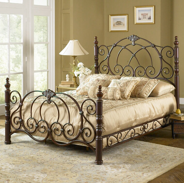 choosing and bed iron artistic decoration white brown wrought crea frame set bedside cozy with complete w bedroom your pillows footboard table headboard also plus comforter designed