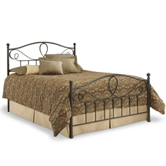 Sylvania Iron Bed French Roast Finish Traditional Curving Design