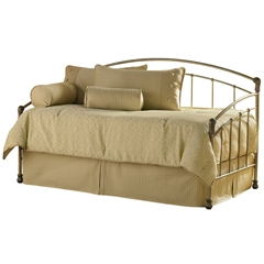 Tuxedo Iron Daybed Gold Frost Finish Contemporary Design