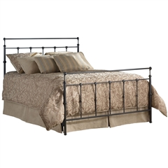 Winslow Iron Bed Mahogany Gold Finish Sleek Classic Design