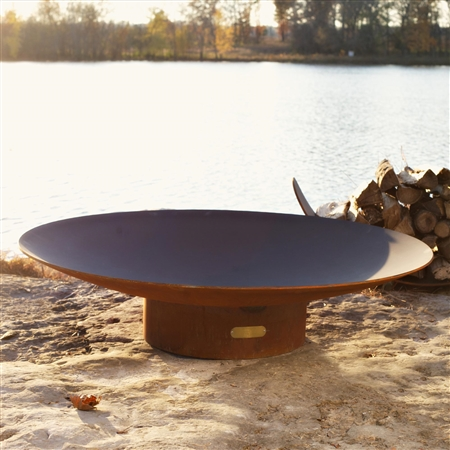 Asia 48 inch Outdoor Fire Pit atistically Hand-crafted by Fire Pit Art and sold at TimelessWroughtIron.com