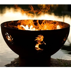 Kokopelli Outdoor Fire Pit atistically Hand-crafted by Fire Pit Art and sold at TimelessWroughtIron.com