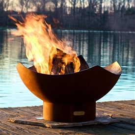 Manta Ray Outdoor Fire Pit atistically Hand-crafted by Fire Pit Art and sold at TimelessWroughtIron.com