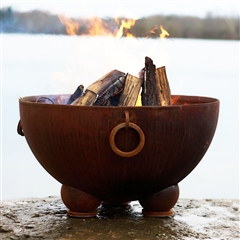 Nepal Outdoor Fire Pit atistically Hand-crafted by Fire Pit Art and sold at TimelessWroughtIron.com
