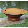Saturn Outdoor Fire Pit with Lid atistically Hand-crafted by Fire Pit Art and sold at TimelessWroughtIron.com