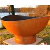 Scallops Outdoor Fire Pit atistically Hand-crafted by Fire Pit Art and sold at TimelessWroughtIron.com
