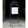 Pictured here is the Ho Jo Freestanding Wrought Iron Towel Rack from Griffin Creek.