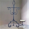 Pictured here is the Abilene Tea Hand Towel Holder made of hand-forged iron.