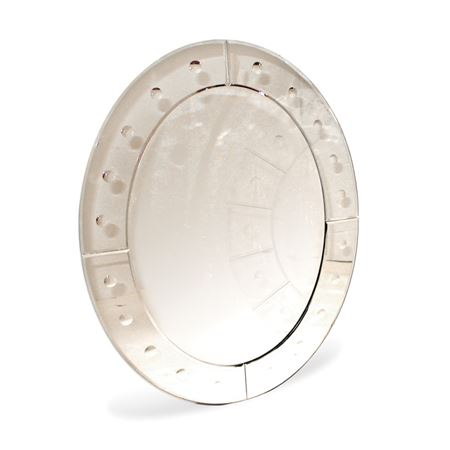 Oval Bubble Paned Mirror