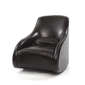 Dark Brown Contemporary Style Leather Chair